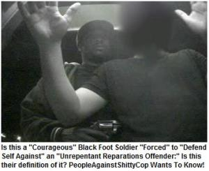 "NBFSN Definition of a Reparations Protester ""Defending Himself"""